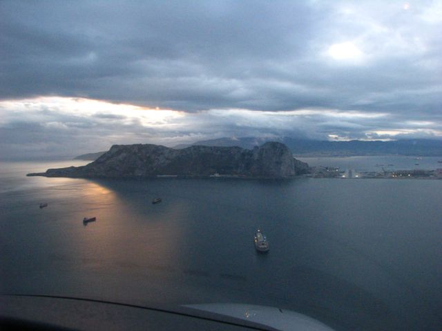 Breathtaking approach at Gibraltar